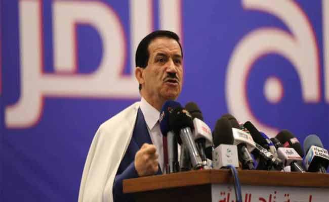 غول يؤكد أن حزب تجمع أمل الجزائر يساند بوتفليقة