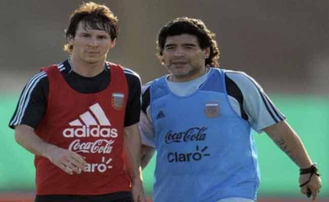 مارادونا يطلب مبسي بالابتعاد عن التانغو
