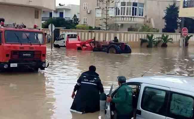 الحماية المدنية بوهران قامت بـ20 تدخلا على إثر الأمطار الغزيرة