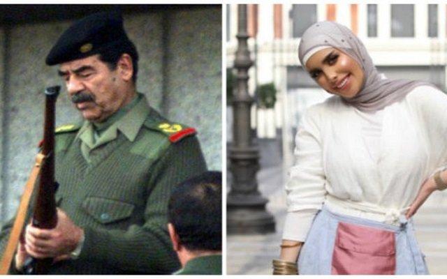 عارضة أزياء كويتية تهتف