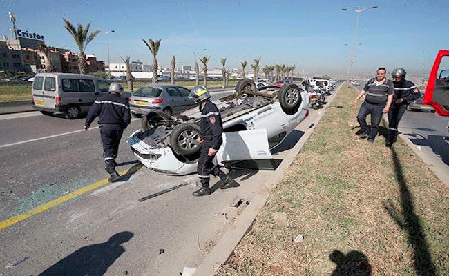 حوادث المرور تتراجع بنسبة 8،35 بالمائة خلال 2018