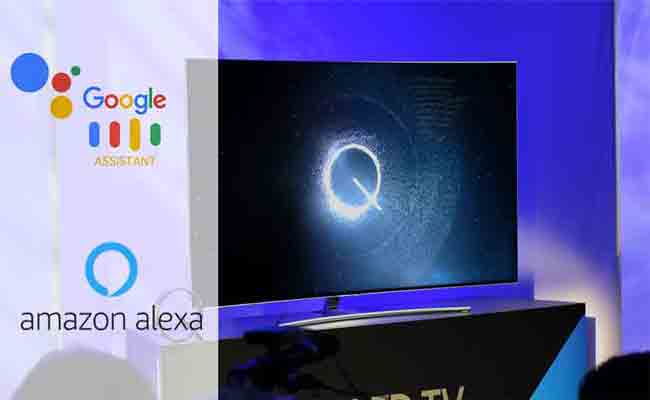 في 2019 ، شاشات التلفاز التابعة لسامسونج ستدعم المساعدين الصوتيين جوجل وأليكسا