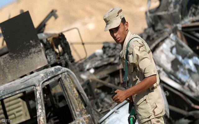 هجوم إرهابي في شمال سيناء أسفر عن مقتل سبعة من المهاجمين ومقتل وإصابة 15 من الجيش المصري