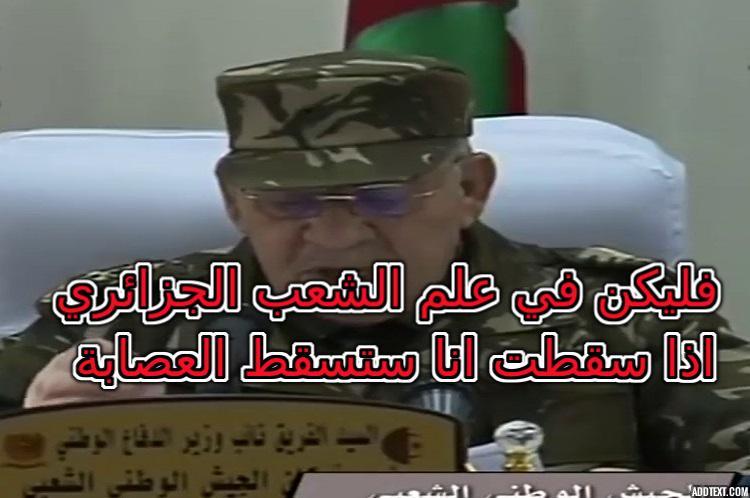 الشعب الجزائري يتخلص من متلازمة تقديس الجنرالات ويزلزل عرش القايد صالح
