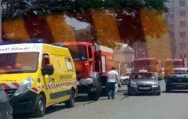 حريق بصيدلية قسم أمراض العيون بمستشفى نفيسة حمود يتلف أدوية و تجهيزات