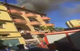 النيران تلتهم ثلاث محلات تجارية في عين النعجة بالعاصمة