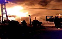 النيران تلتهم محطة توليد الكهرباء بالمنطقة الصناعية بحي كشيدة في باتنة