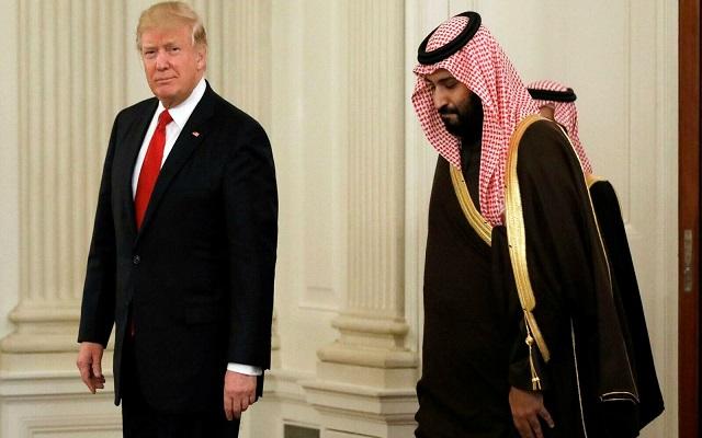 ترامب وبن سلمان يناقشان تبجح ايران وتفاخرها بإسقاط الطائرة