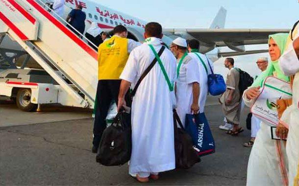 أول فوج  للحجاج يغادر المطار الدولي هواري بومدين نحو المدينة المنورة