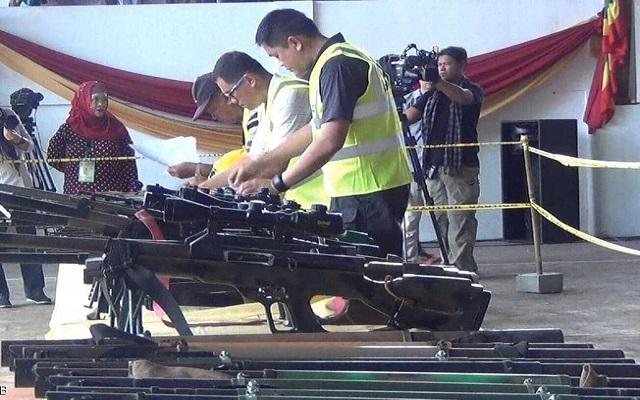 من اجل التحول إلى حزب سياسي جبهة مورو الإسلامية تبدأ تسليم سلاحها