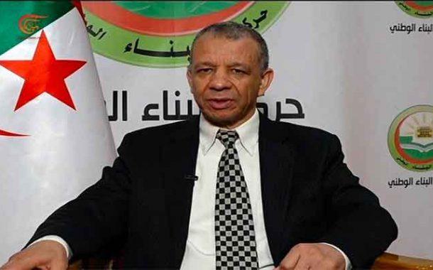 بن قرينة مرشح حركة البناء لرئاسيات12 ديسمبر