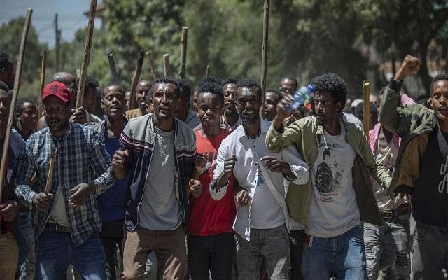 78  قتيل خلال احتجاجات إثيوبيا
