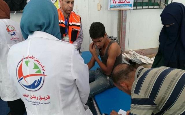 شهيد وعشرات الجرحى في غزة