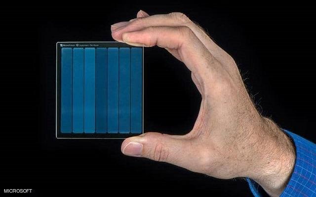 تقنية  التخزين على الزجاج من مايكروسوفت...