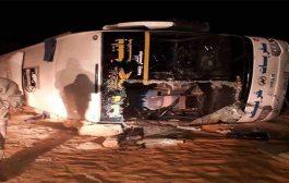 انقلاب حافلة خط عين صالح -باتنة بغرداية يخلف مقتل طفل و إصابة 27 مسافرا...