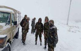 تدخل الجيش لفك العزلة عن المناطق التي شهدت تساقطا للثلوج بتلمسان