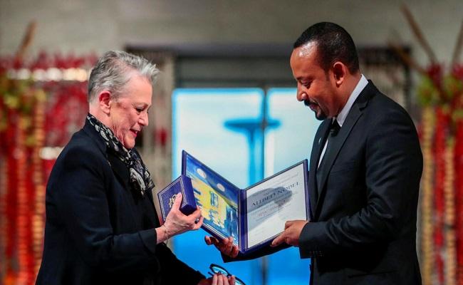 رئيس وزراء إثيوبيا يتسلم جائزة نوبل للسلام