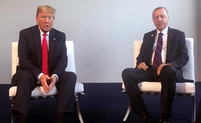 ترامب يلتقي بـ أردوغان ويلغي مؤتمره الصحفي