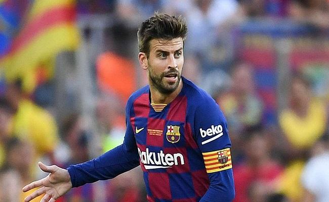 بيكيه يغيب عن تدريبات برشلونة بداعي الإصابة...