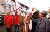 الهلال الأحمر الجزائري يوزع مساعدات إنسانية على أزيد من 300 عائلة معوزة بتين زواتين بتمنراست