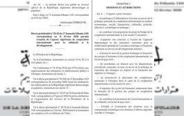 مرسوم إنشاء الوكالة الجزائرية للتعاون الدولي من أجل التضامن والتنمية يصدر بالجريدة الرسمية