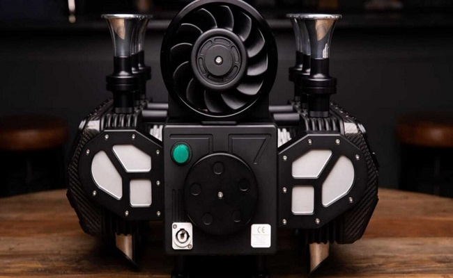 آلة قهوة على شكل محرك بورش...