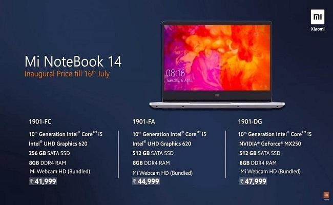 شاومي تطلق رسميا حاسوب Mi NoteBook 14...