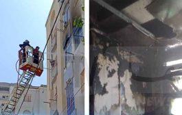 إنقاذ 4 أطفال من الموت إثر حريق منزل تم إخماده بالطابق الثالث لعمارة بوهران