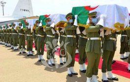 عودة رفات 24 شهيدا و مقاوما جزائريا للاستعمار الفرنسي لمطار هواري بومدين الدولي إلى أرض الوطن