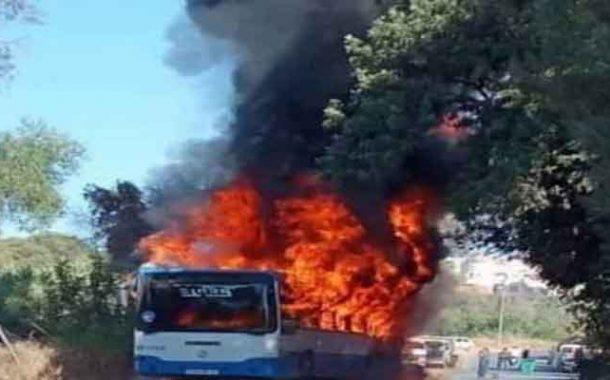 احتراق حافلة لنقل المسافرين بالسحاولة بالعاصمة دون تسجيل ضحايا