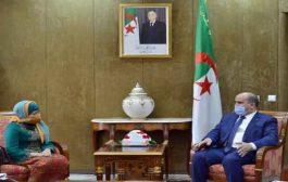 شنين يستقبل سفيرة اندونيسيا بالجزائر
