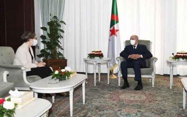 استقبال رئيس الجمهورية تبون لسفيرة جمهورية المجر بالجزائر...