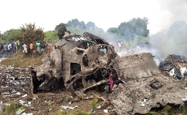 تحطم طائرة بعد إقلاعها من مطار جوبا