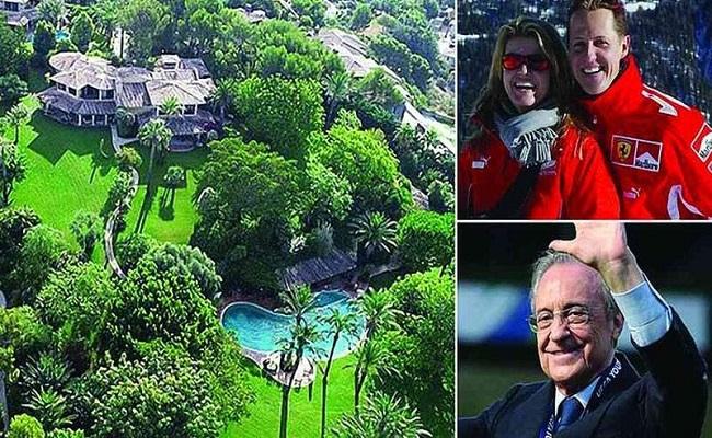 شوماخر يتابع عالجه في قصر رئيس ريال مدريد...