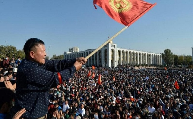 لمعارضة في قرغيزستان تعلن عن الانقلاب والاستيلاء على السلطة