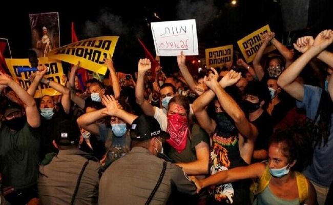 آلاف الإسرائيليين يتظاهرون مطالبين باستقالة نتنياهو