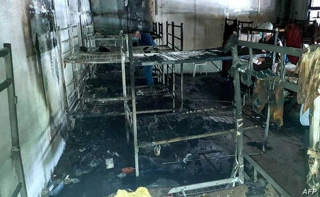حريق بمركز للمهاجرين في البوسنة