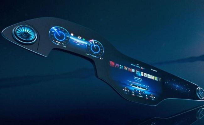 مرسيدس تكشف عن شاشة بحجم 56 إنش لسيارة EQS الكهربائية...