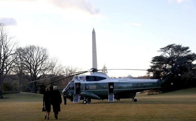 ترامب غادر واشنطن قبل بدء حفل تنصيب بايدن