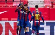 ميسي يقود برشلونة للتغلب على إشبيلية...
