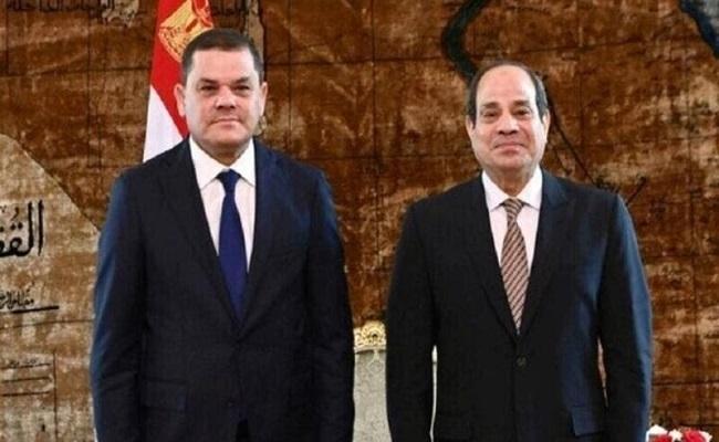 السيسي يستقبل رئيس الحكومة الليبية