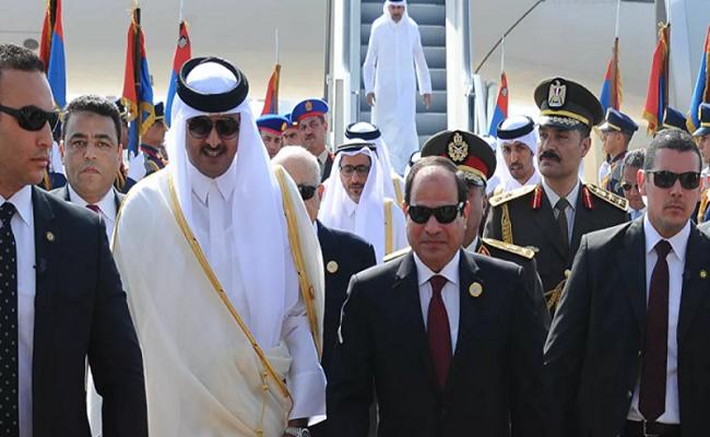 لقاء قطري مصري في الكويت