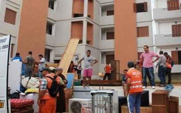 انطلاق عملية ترحيل 129 عائلة قاطنة بالإحياء القصديرية