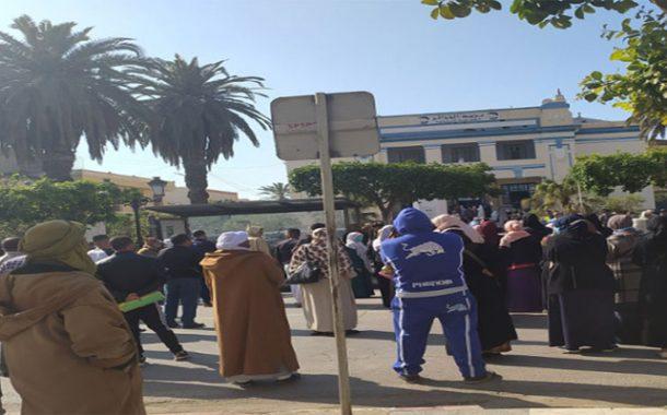 احتجاج المتقاعدين بغليزان