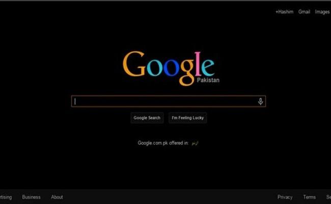 الوضع الداكن في محرك بحث جوجل...