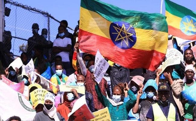 مظاهرة حاشدة في إثيوبيا تندد بأمريكا