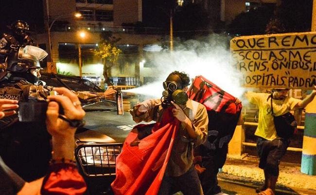 احتجاجات شعبية واسعة في البرازيل