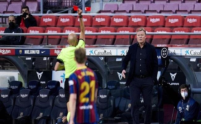 إيقاف كومان مدرب برشلونة...