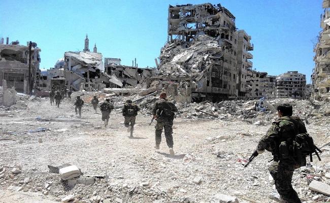 قتلى وجرحى من قوات الأسد بانفجار حقل الغام