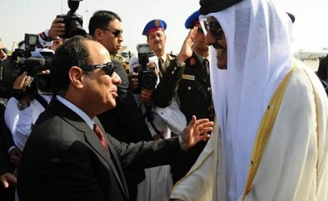 نظام القطري صاحب المئة وجه السيسي رئيس شرعي ومنتخب